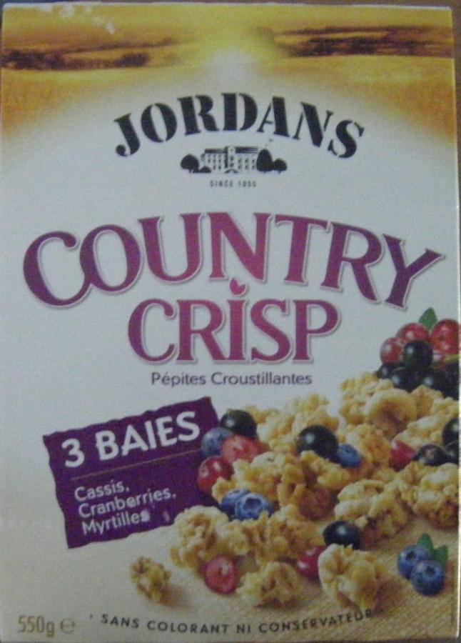 JORDANS Country crisp 3baies jord.550g