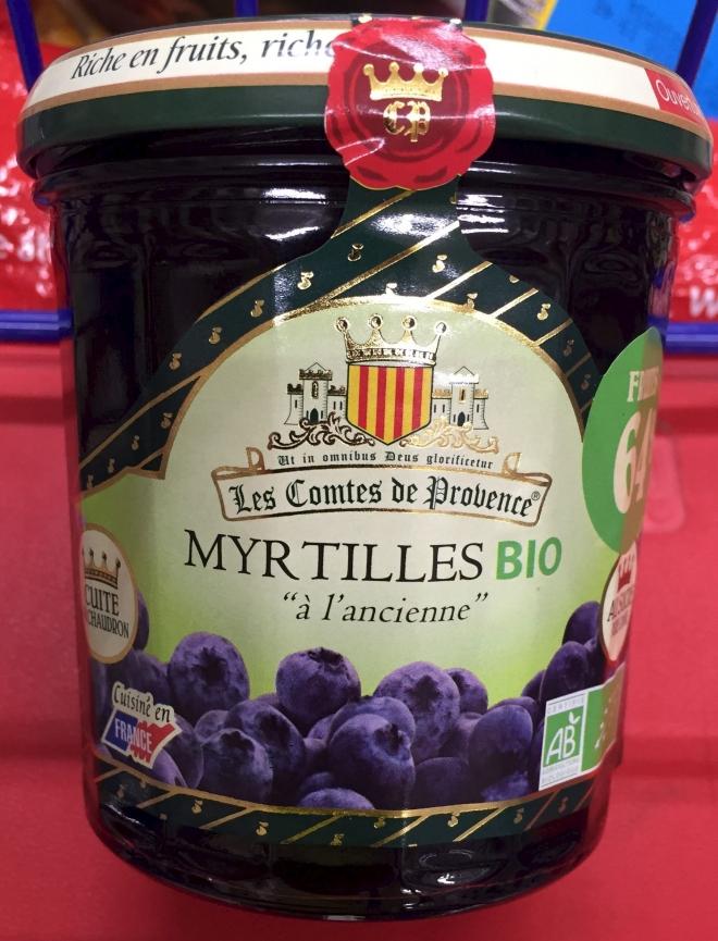 PROVENCE Confiture de myrtille bio 350g