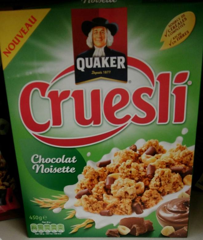 QUAKER Cereal.cruesli choco/nois.450g