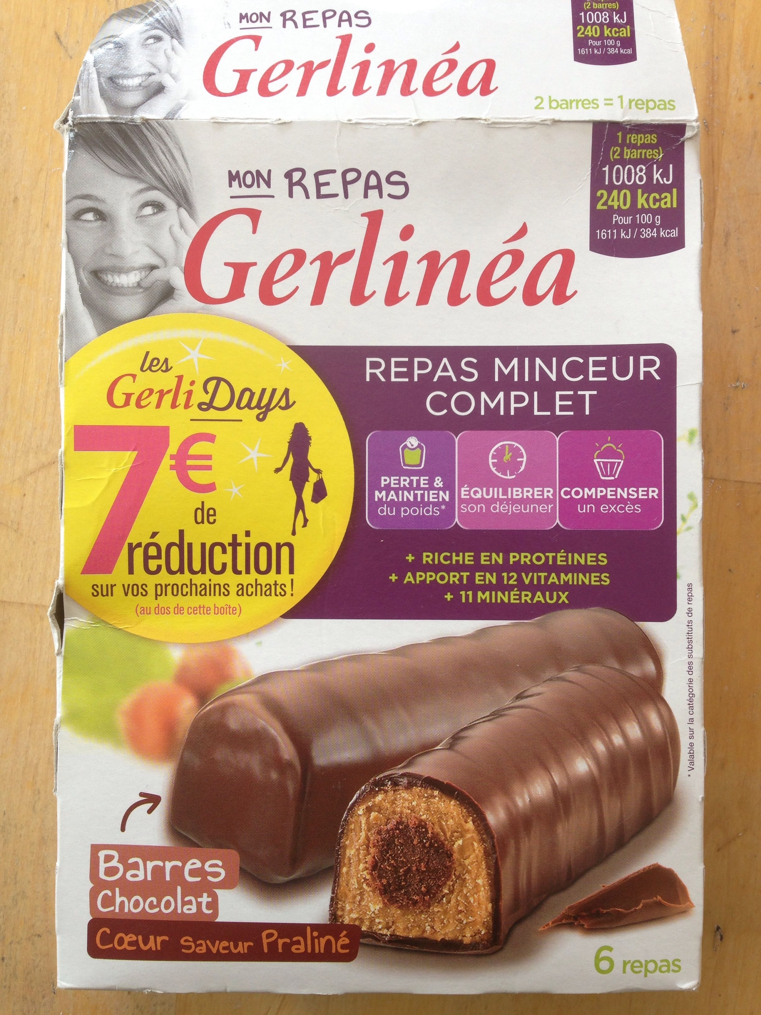 GERLINEA Barre repas choc.gerlinea 372g – Phocéene de