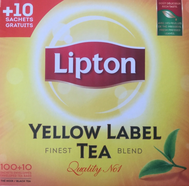 LIPTON The yellow lipton st x100+10gr